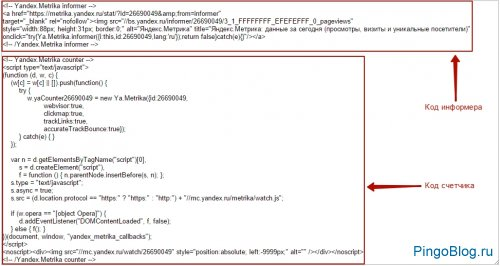 ��������� �������� ������ �������, Google Analytics � LiveInternet �� ����