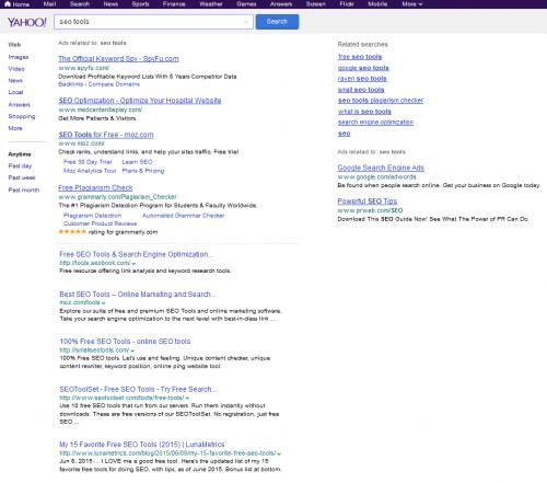 Yahoo будет показывать выдачу Google?