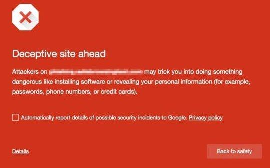Google начинает уведомлять о сайтах с угрозой вредоносных загрузок