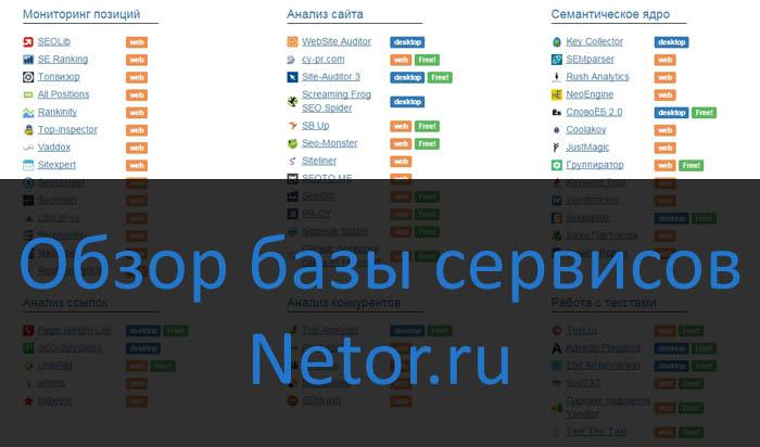 Netor.ru � ���� �������� ��� ������������� SEO