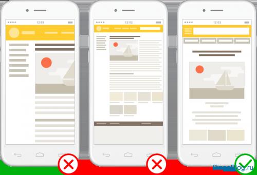 Владивосток — новый алгоритм Яндекса, который учитывает степень мобильной адаптивности