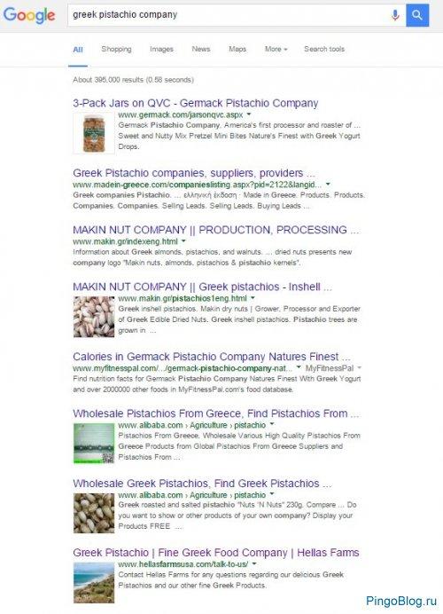 Google всё чаще показывает картинки расширенных сниппетах